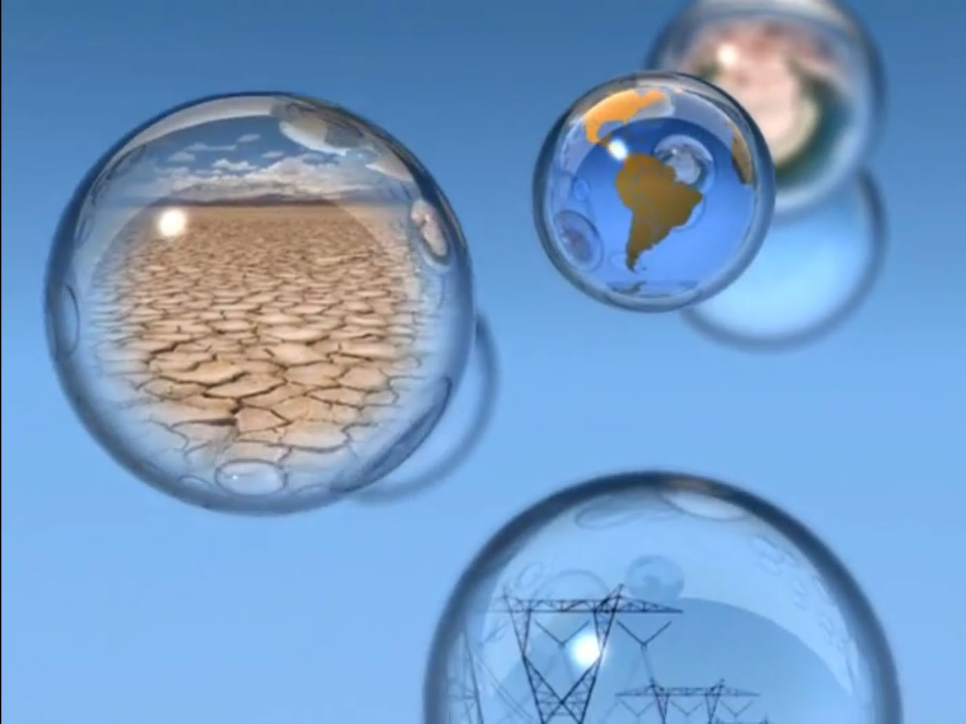 Bubbles from television commercial produced for Central Arizona Project.