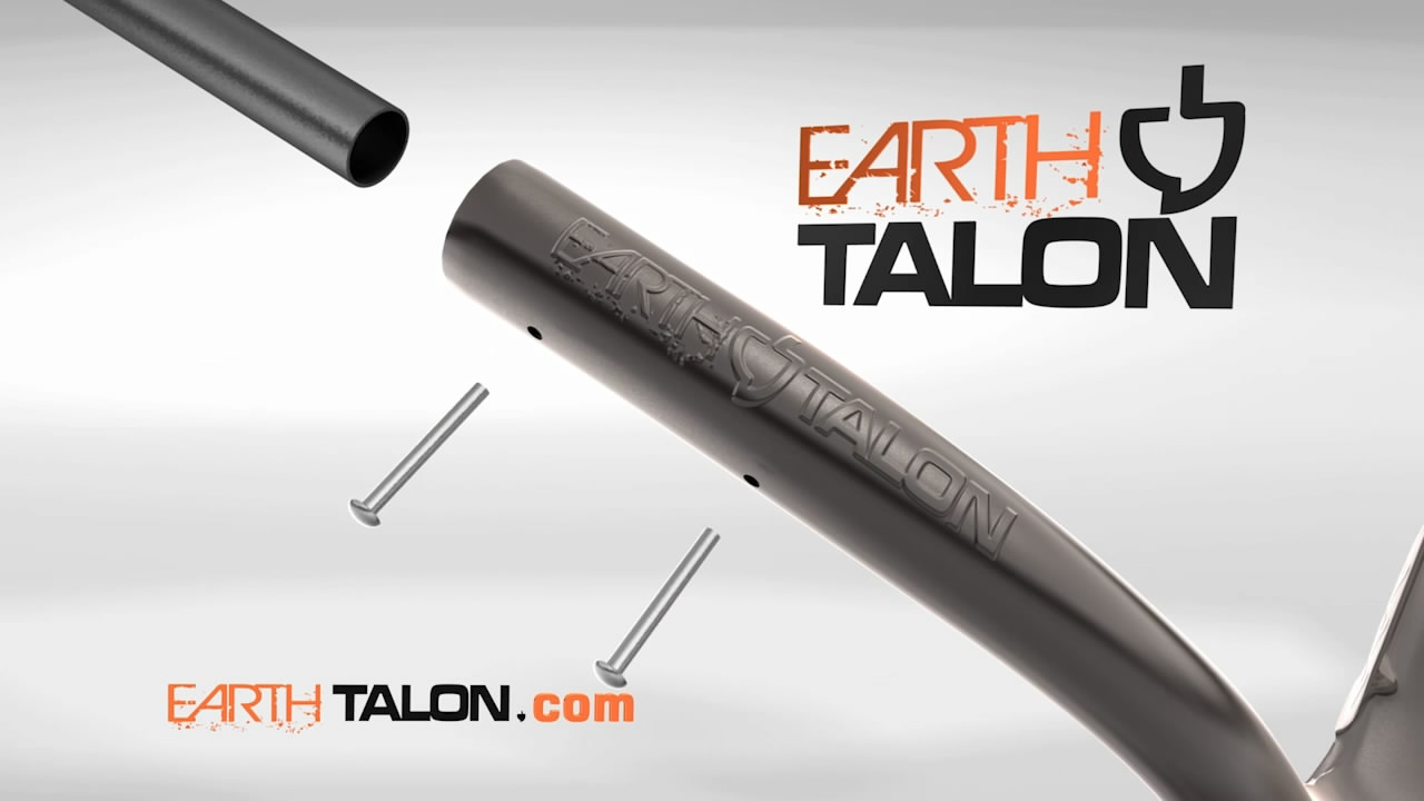 Earth Talon shovel assembling in a 3D animation as part of a television commercial.