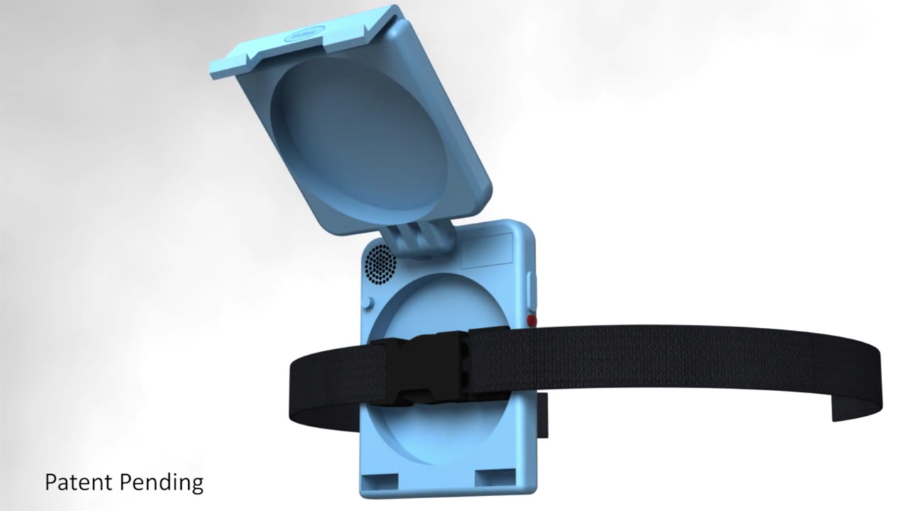 3D Rendering Of The Buckle Beeper (formerly Chair Alert).